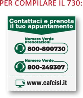 CAF Cisl prenotazione appuntaenti